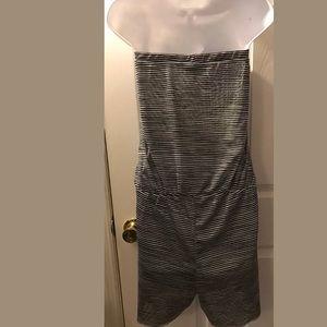 9c327b3d6a2f Cynthia Rowley Pants - CYNTHIA ROWLEY Romper Jumpsuit Black white mesh